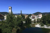 Natisone river and the old town of Cividale del Fr