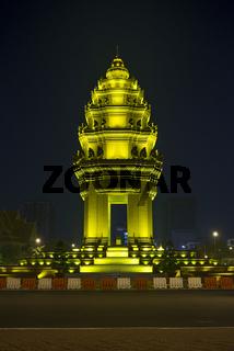 independence monument in phnom penh cambodia