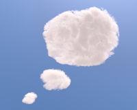 Text bubble cloud shape