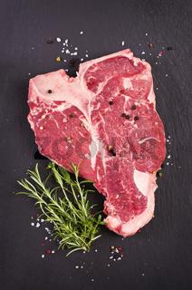 t-bone steak with spices