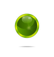 abstract eco green bubble isolated