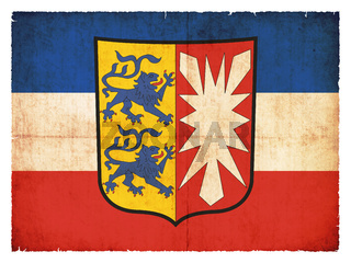 Grunge flag of Schleswig-Holstein (Germany)