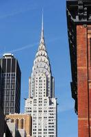 Peak of Chrysler Building, Manhattan in New York C