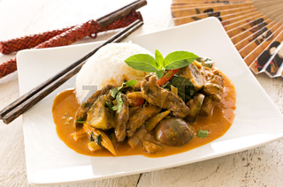 thai red curry with beef and vegetables