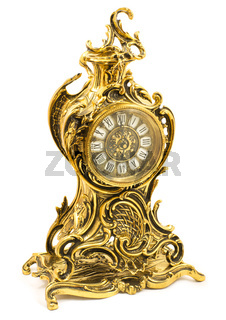 Bronze antique table clock