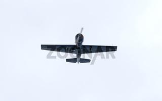Yak-52 plane in flight