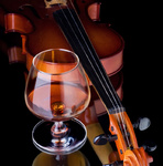Cognac and violin