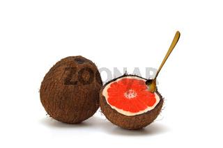 Kokosnuss und Grapefruit / coconut and grapefruit