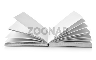 Open book with fanned pages