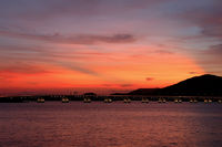 The evening of Macau city viewing from Taipa island