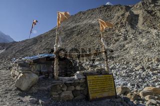 Ashram in Gaumukh