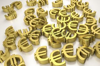 golden euro signs