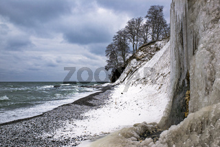 Ruegen im Winter - Steilkueste