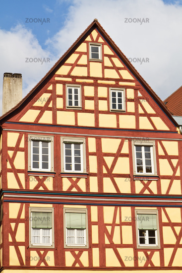 Historical half-timbered houses in Schwäbisch Hall, Germany