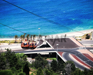 Cable car in Haifa