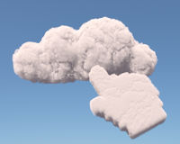 Cloud with hand cursor