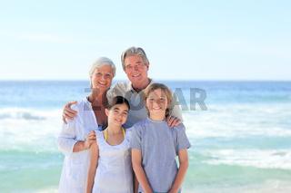 Grandparents with their grandchildren