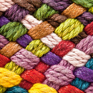 multi colored woollen yarns