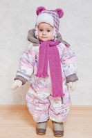 Baby in winter clothes