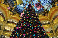 Galeries Lafayette in christmas.