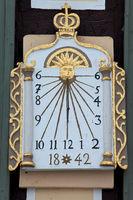 Historical sun dial