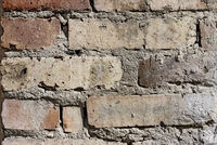 old damaged brick wall background