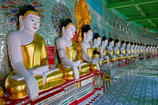 Buddha statues in Sagaing, Myanmar