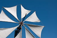 Greek windmill and blue sky