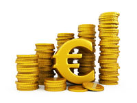 Euro golden coins