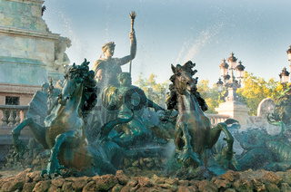 Girondins monument and fountain, Bordeaux, France