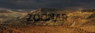 Panoramic view on Negev desert.