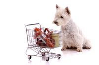 Hund im Supermarkt