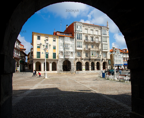 Square of Castro Urdiales, Cantabria, Spain