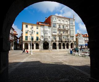 Square of Castro Urdiales, Cantabria, Spain