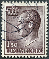LUXEMBURG - 1966: shows Grand Duke Jean