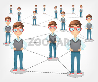 Social Network. Vector EPS 10.