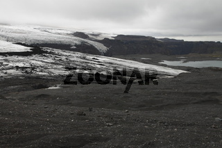 One of the outlet glaciers (glacier tongues) of the Mýrdalsjökull ice cap