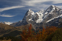 Bernese Alps with the summits Eiger and Moench