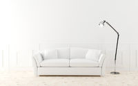 White sofa in luminous room