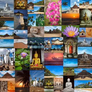 Collage of images of Sri Lanka