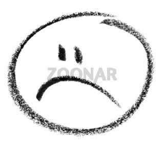 unhappy smiley sketch