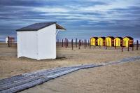 beach huts, De Panne, West Flanders, Belgium