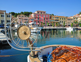 Blick auf Porto Azzurro auf Elba