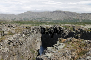 Tectonic crack. Þingvellir (Thingvellir)