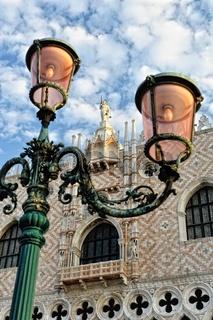 Old streetlight in Venice.