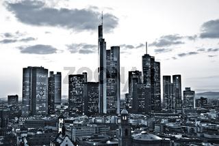Skyline von Frankfurt monochrome