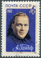 USSR - 1962: shows Arkady Gaidar (1904-1941), writer
