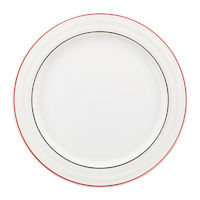 Classical dinner plate isolated on white