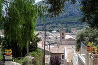 View to the town Pollenca