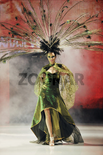 fashion show woman catwalk